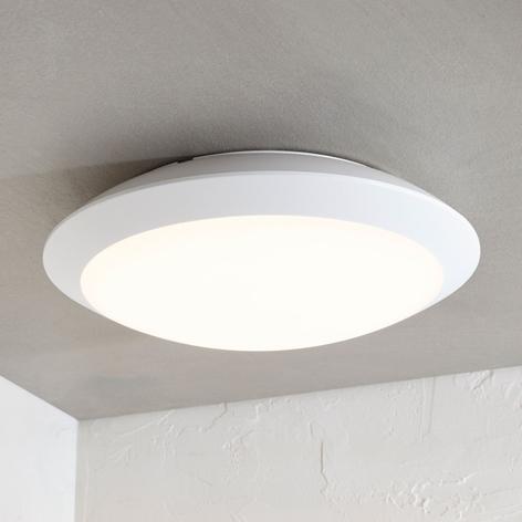 Plafonnier extérieur LED Naira blanc sans capteur