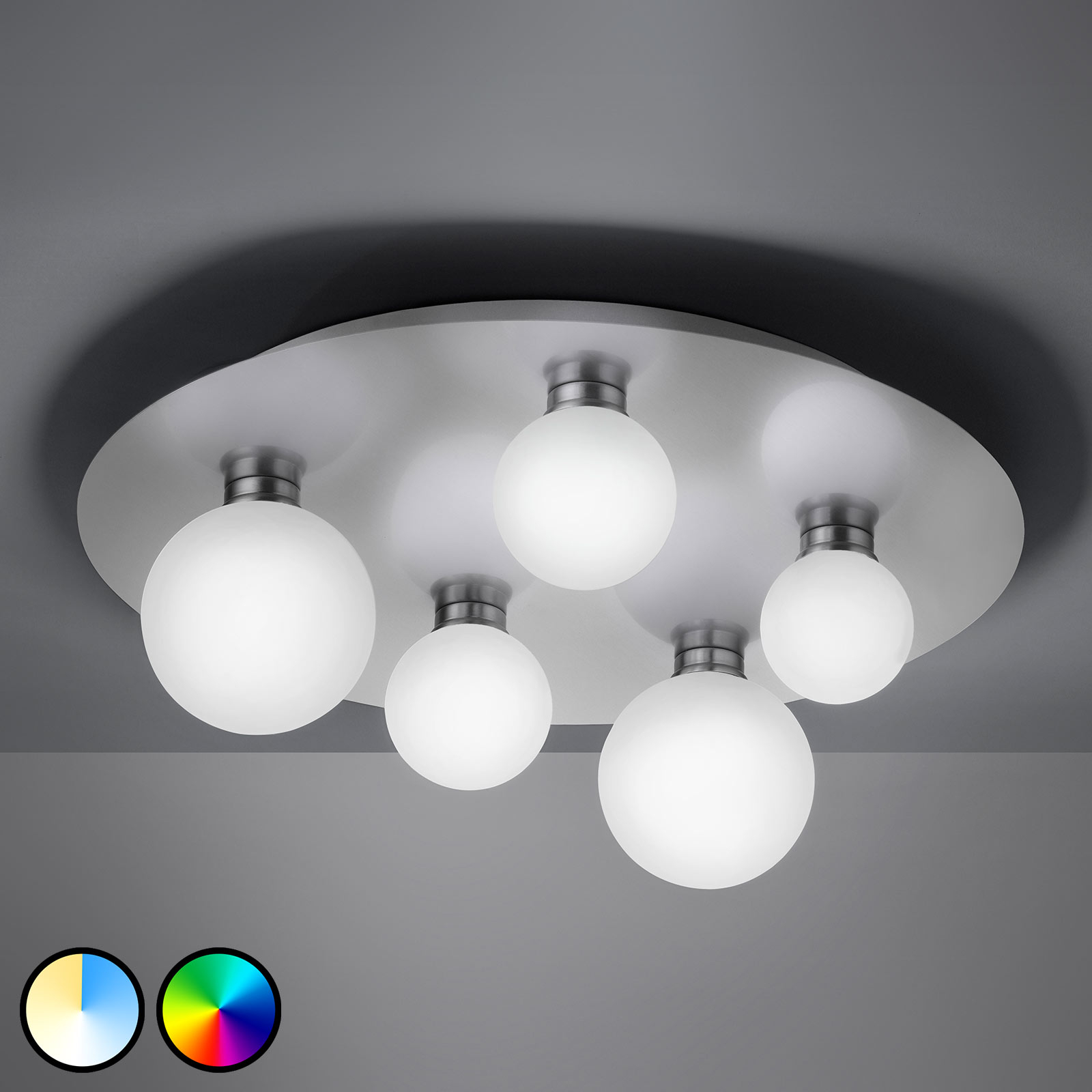 Trio WiZ Dicapio LED-taklampe, 5 lyskilder
