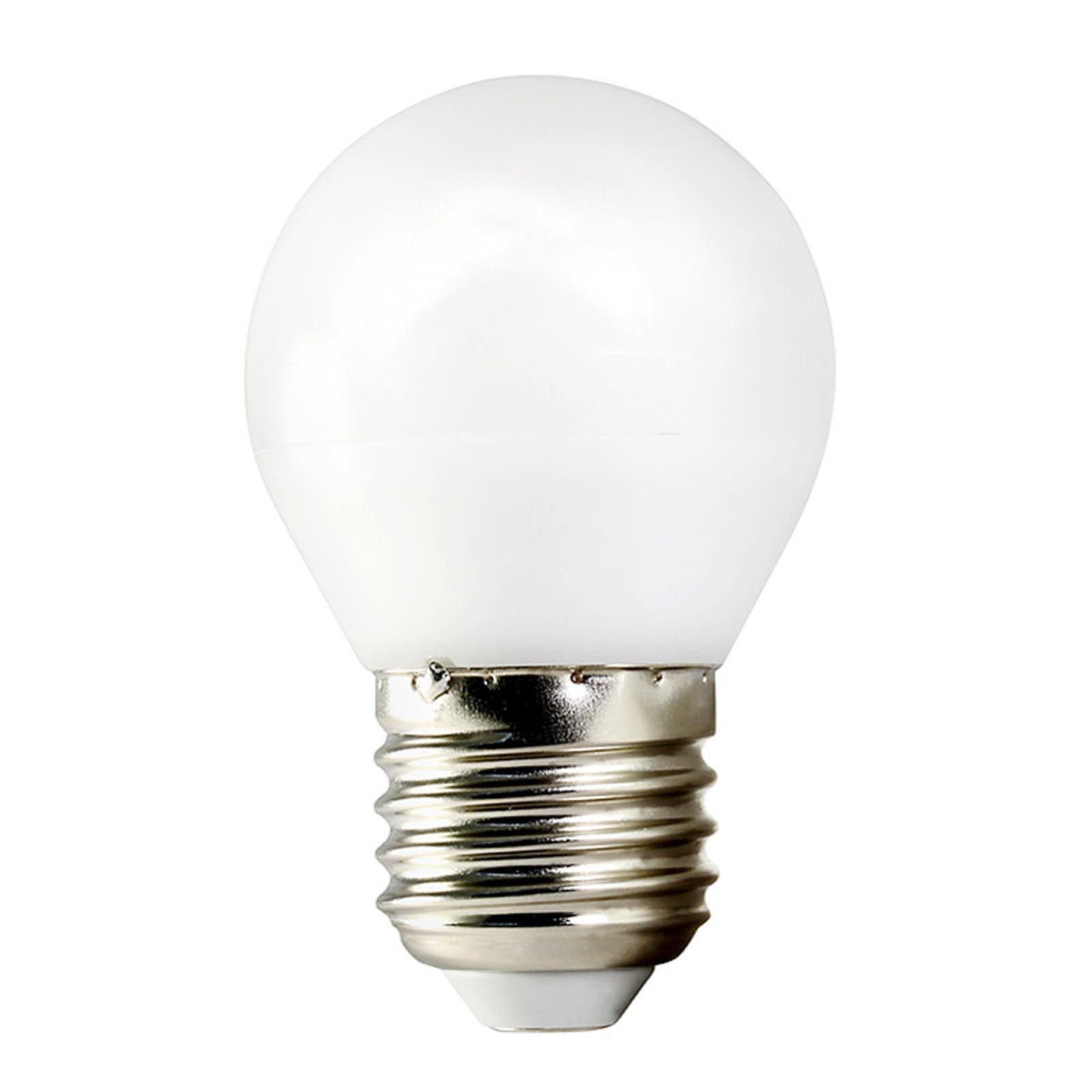 TEMA LED-pære E27 5W dråbe 2.700K til AC/DC