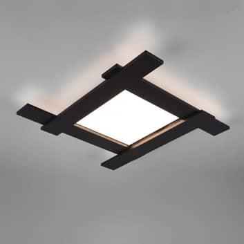 LED-Deckenleuchte Belfast, direkt/indirekt schwarz