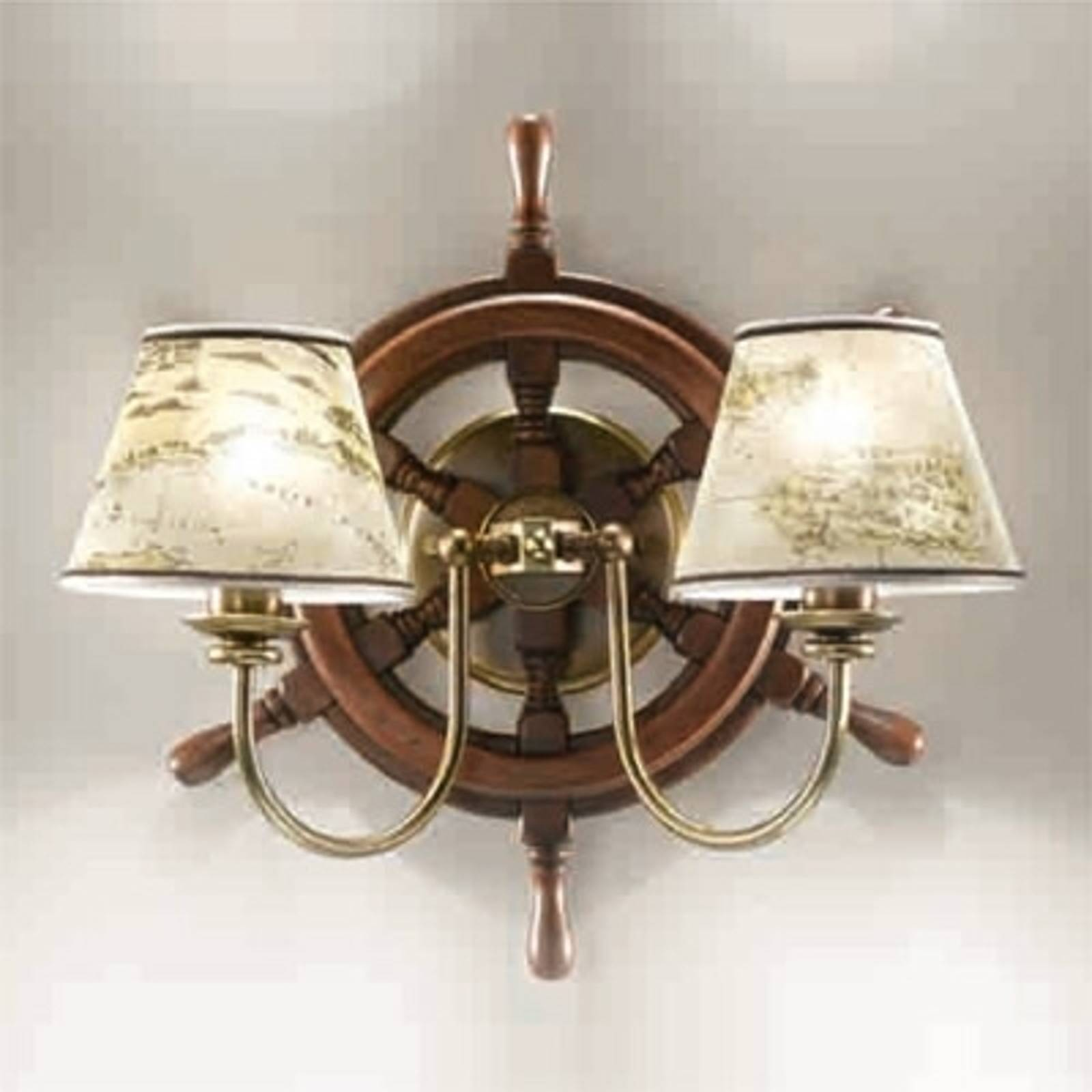 Applique joliement façonnée Porto 2 lampes