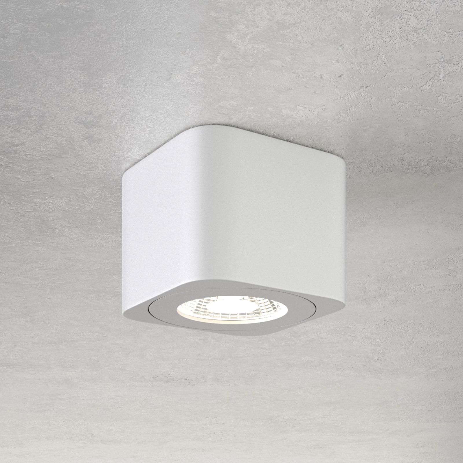 Vierkant LED downlight Palmi in wit