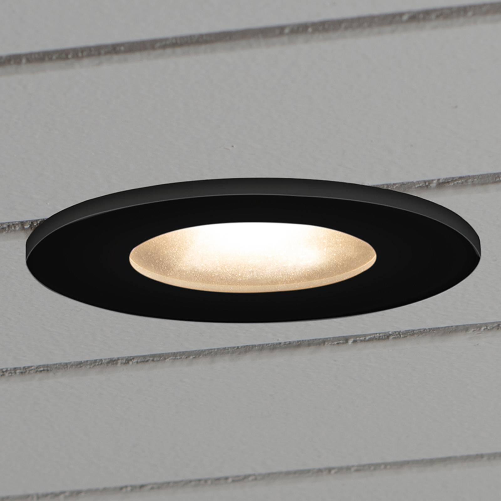 Spot encastré sol LED 7875, plafond ext. noir