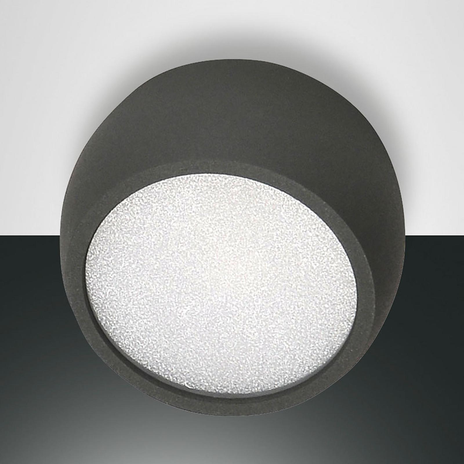 Ronde LED downlight Vasto, antraciet