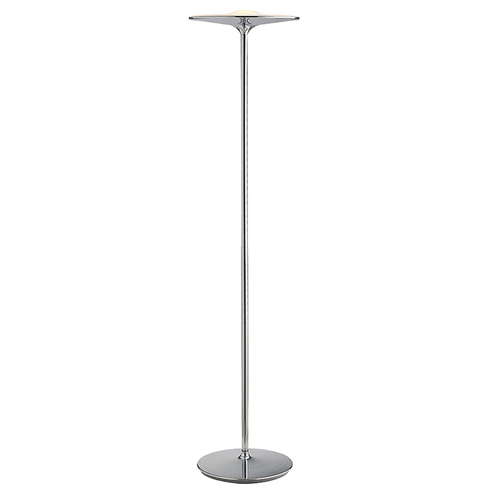 LED-gulvlampe Ikon med kromfinish