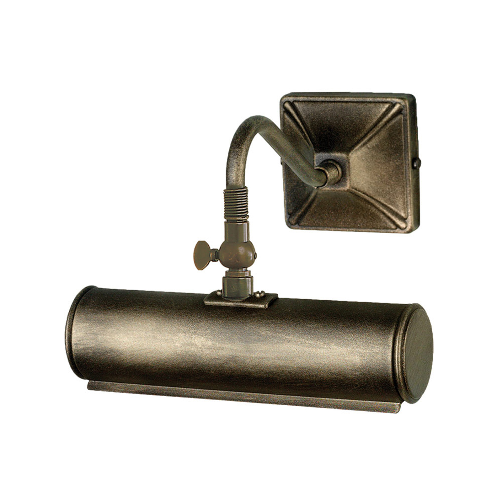 Picture Lights gallerilampe, sort, guld, 19 cm