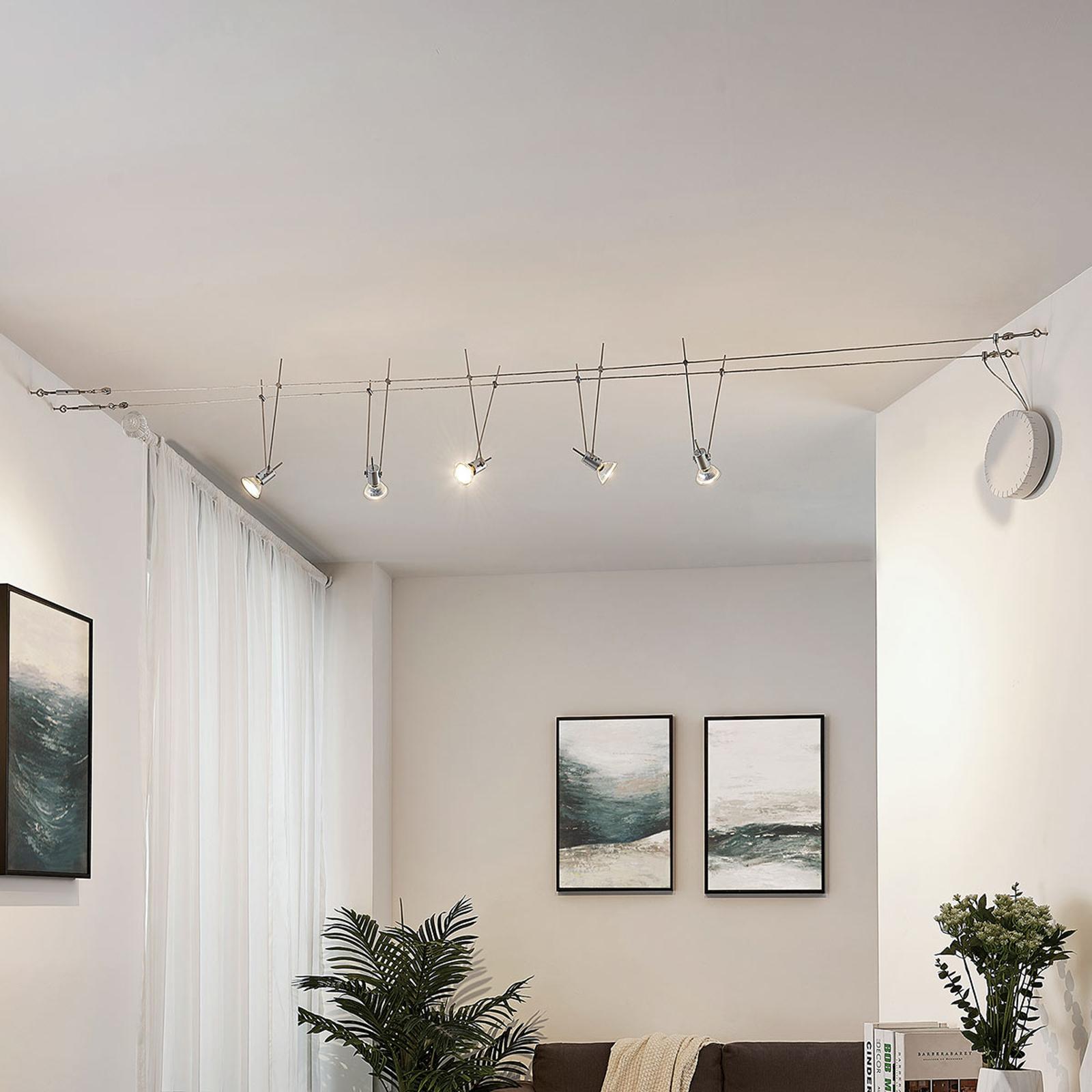 LED kabelsysteem Marno, 5-lamps