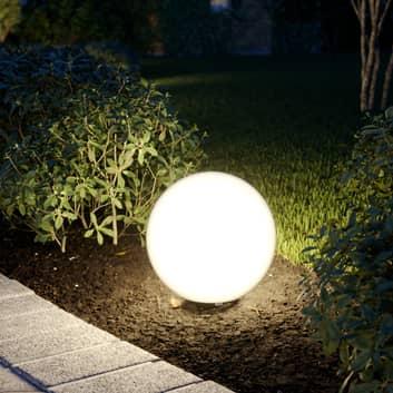 Prios Senadin lampada sferica bianca IP54, 30 cm