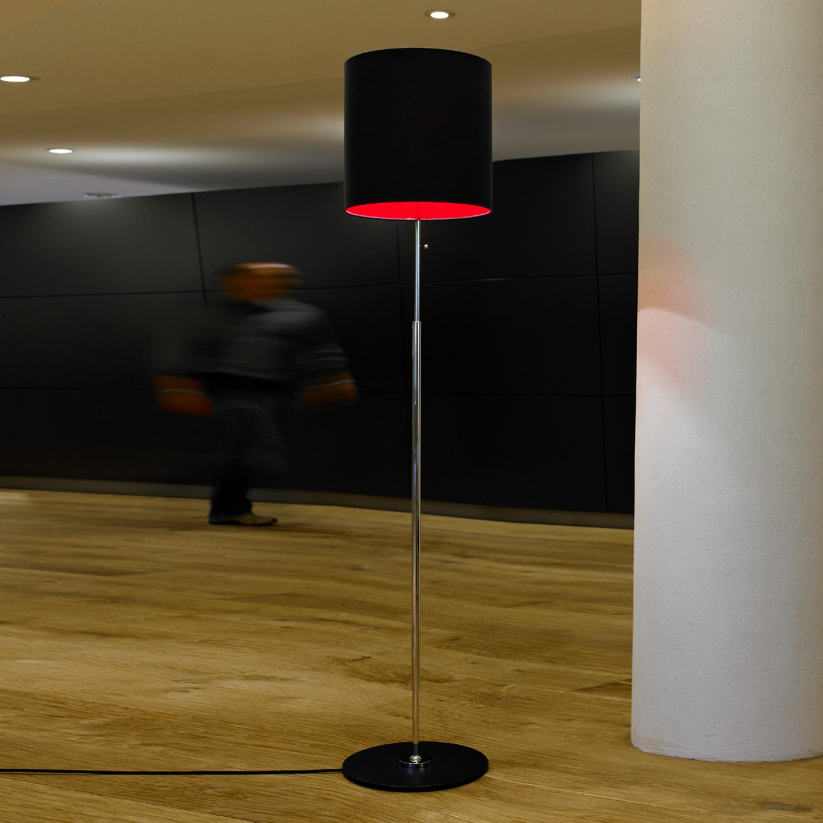 Lampa stojąca Schnepla antracyt czerwień
