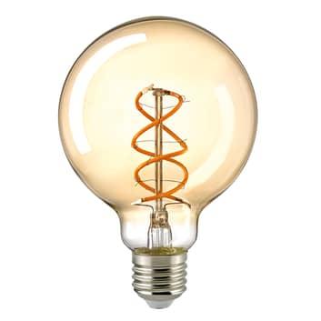 LED-Globelampe E27 G95 5,5W Filament Curved gold