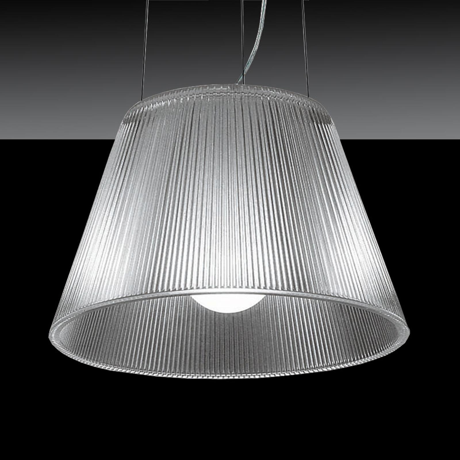 FLOS Romeo Moon S1 – priehľadná závesná lampa