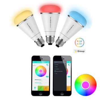 MiPow Playbulb Rainbow+ 3 x RGB-LED-pære E27 10W
