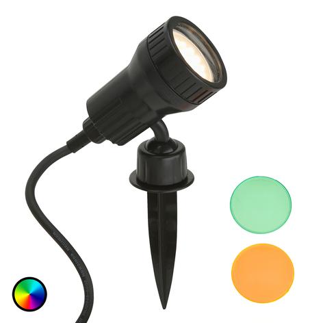 Terra LED-spot med jordspyd, inklusive farvefilter