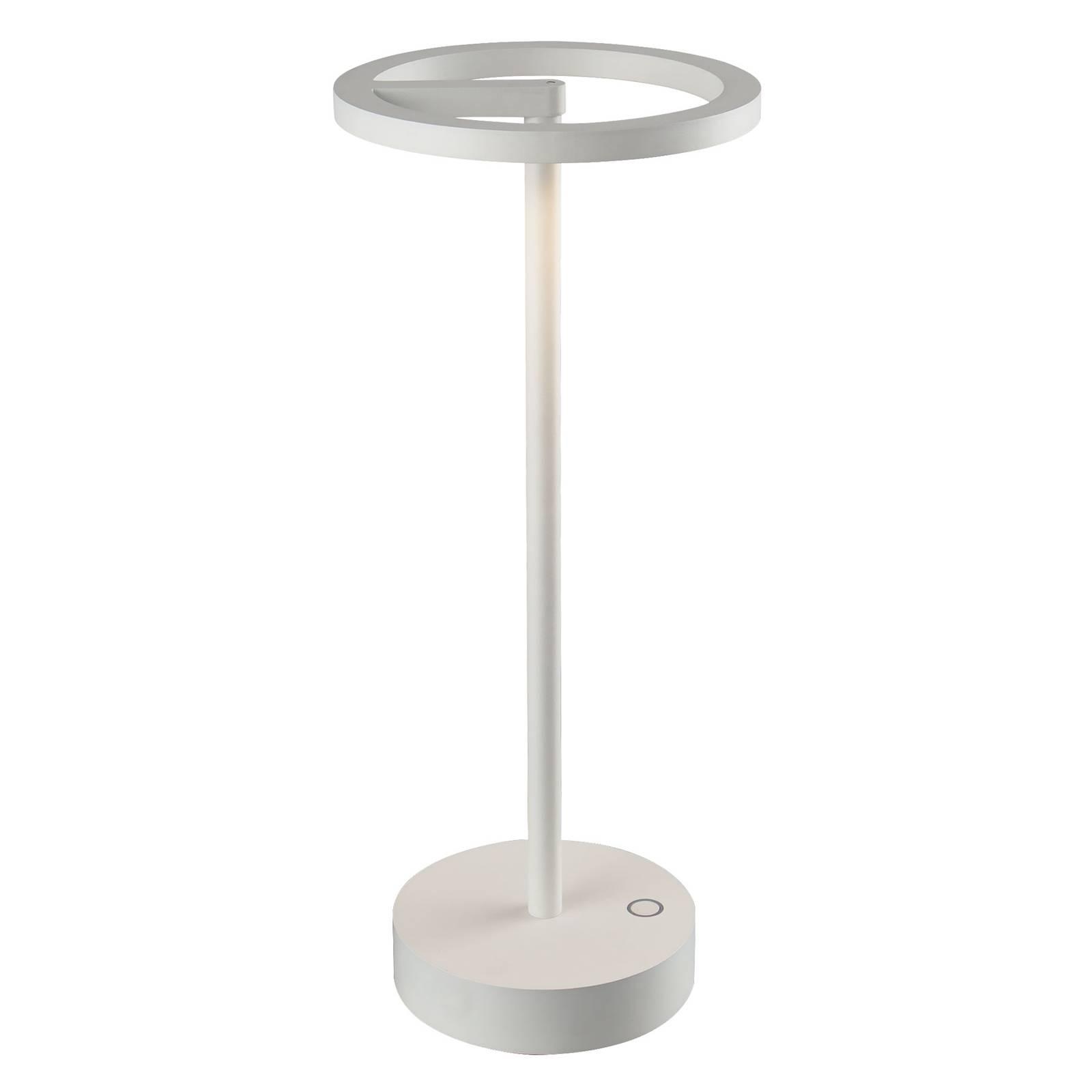 Lucande Halona lampe à poser LED, USB, blanche