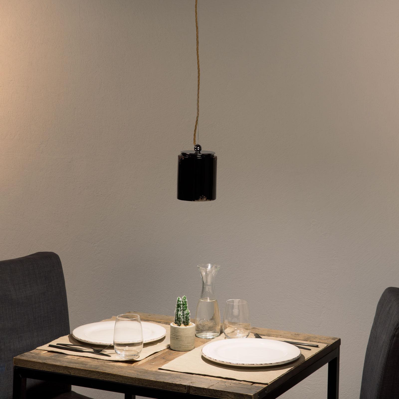 Vintage-hanglamp C984 zwart