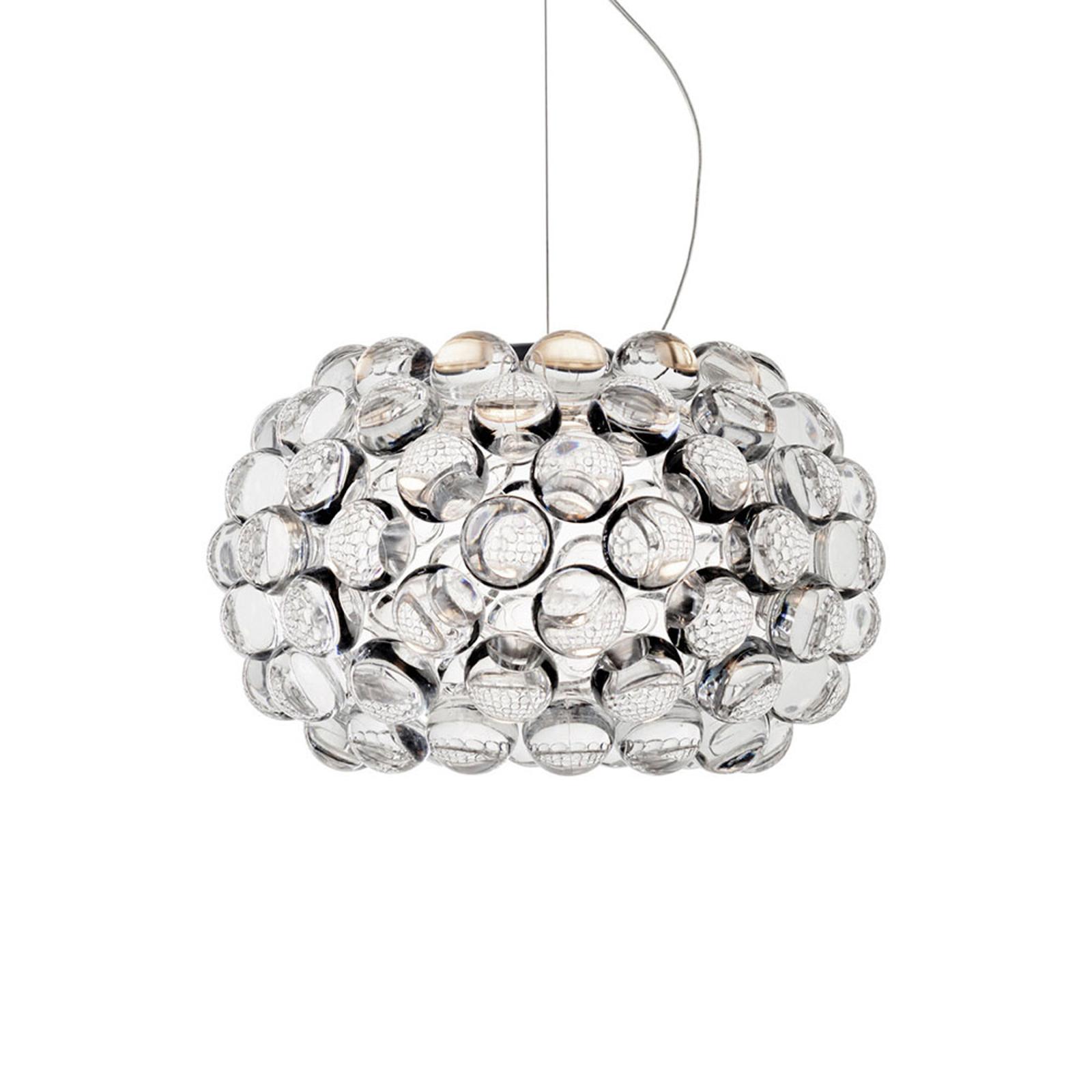 Foscarini Caboche Plus piccola LED-Hängelampe klar