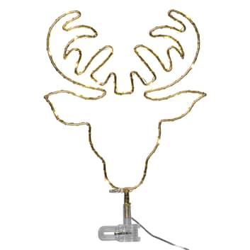 Topsy LED-julestjerne, hjortehoved, batteridrift