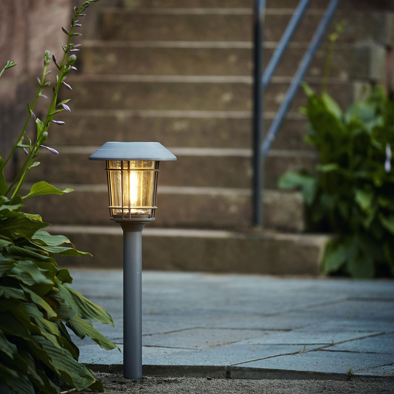 LED-Solarleuchte Filip in Graphit mit Erdspieß