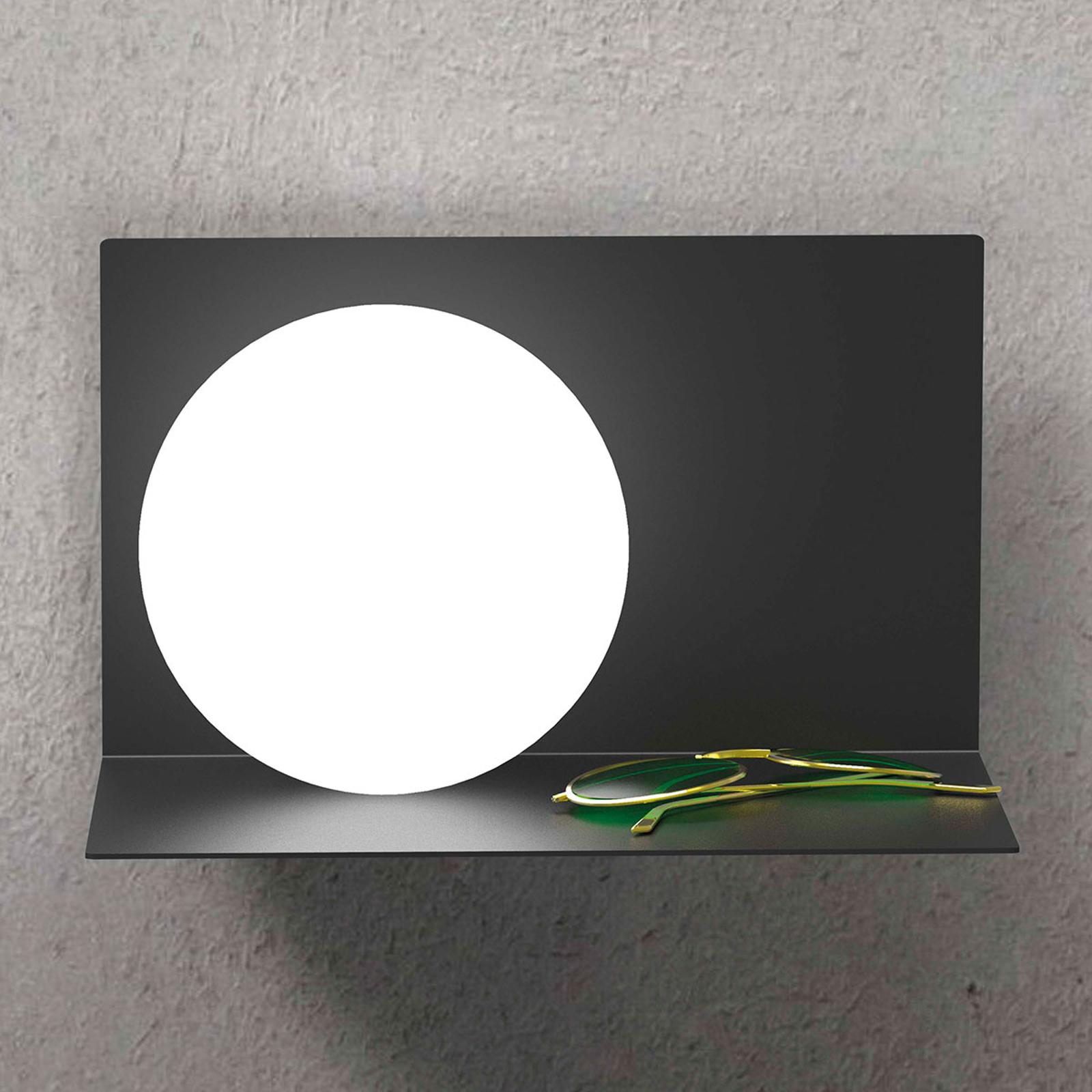 Balance væglampe, venstredrejet, sort