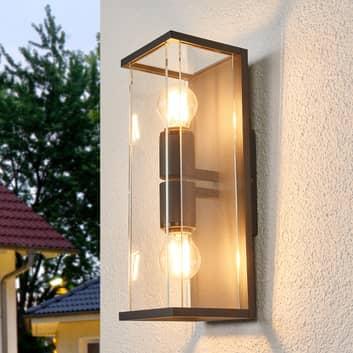 Glas udendørsvæglampe Annalea
