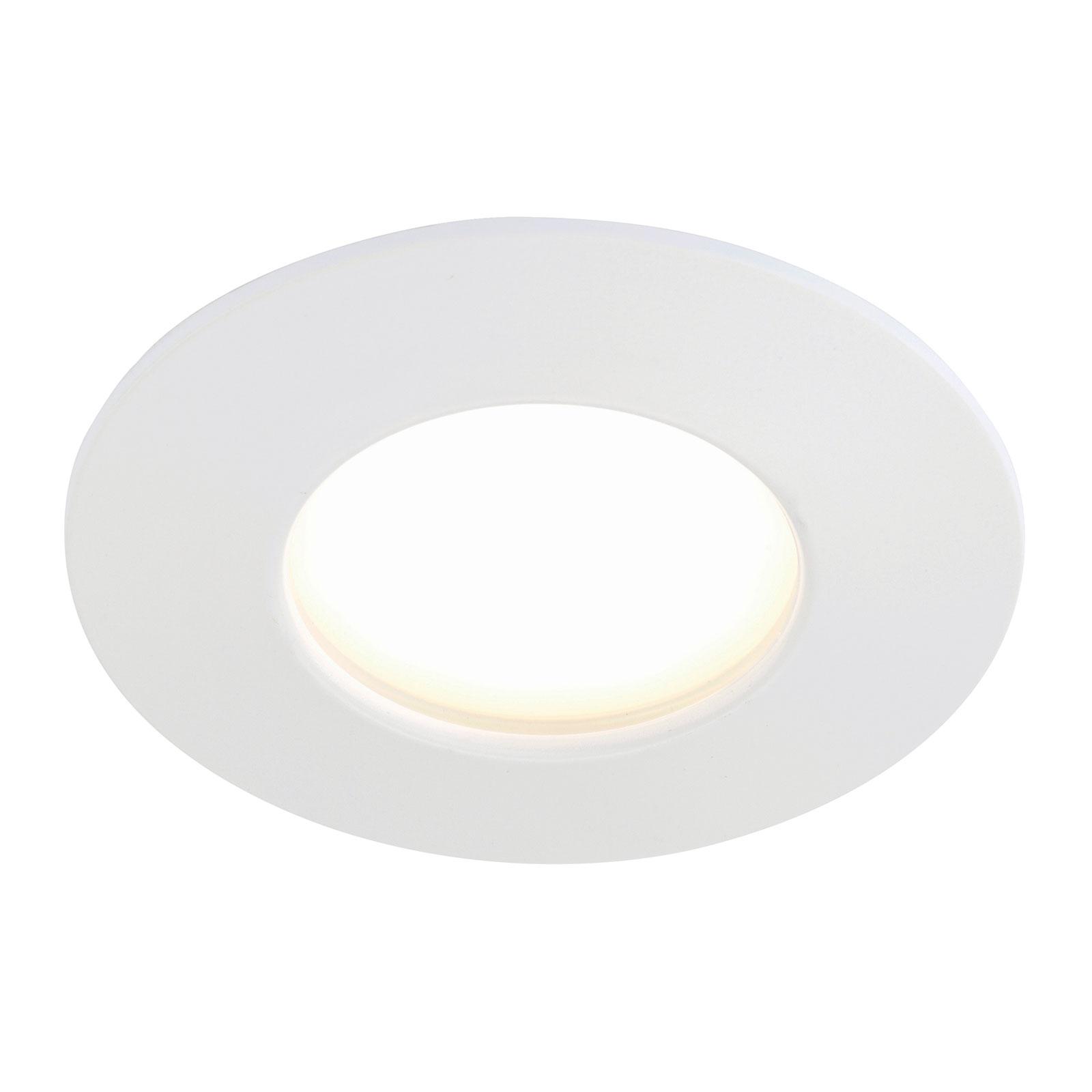 Lámpara LED empotrable Felia blanca, IP44