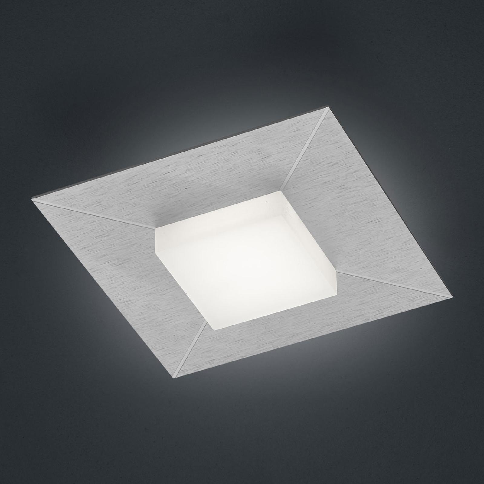 BANKAMP Diamond lampa sufitowa 17x17cm, srebrna