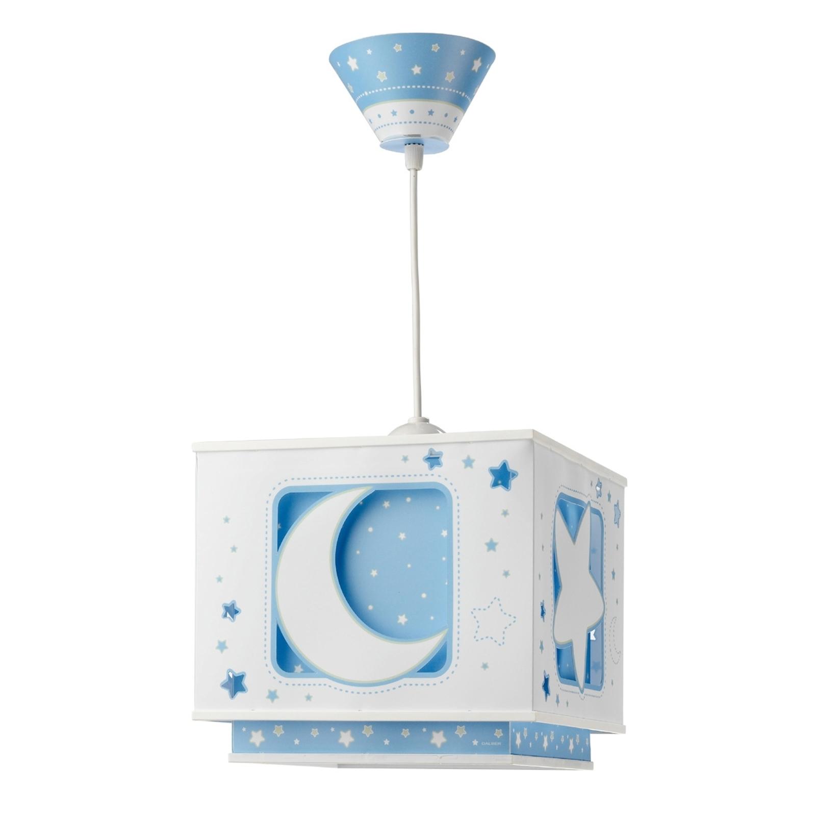 Fluoreszierende Hängeleuchte NACHTHIMMEL blau