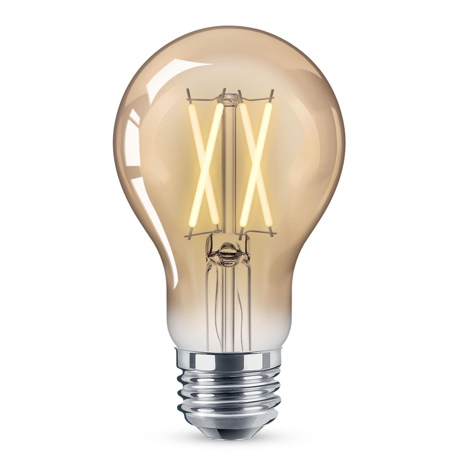 WiZ E27 LED A60 Filament amber 6,5W 2.000-4.500K
