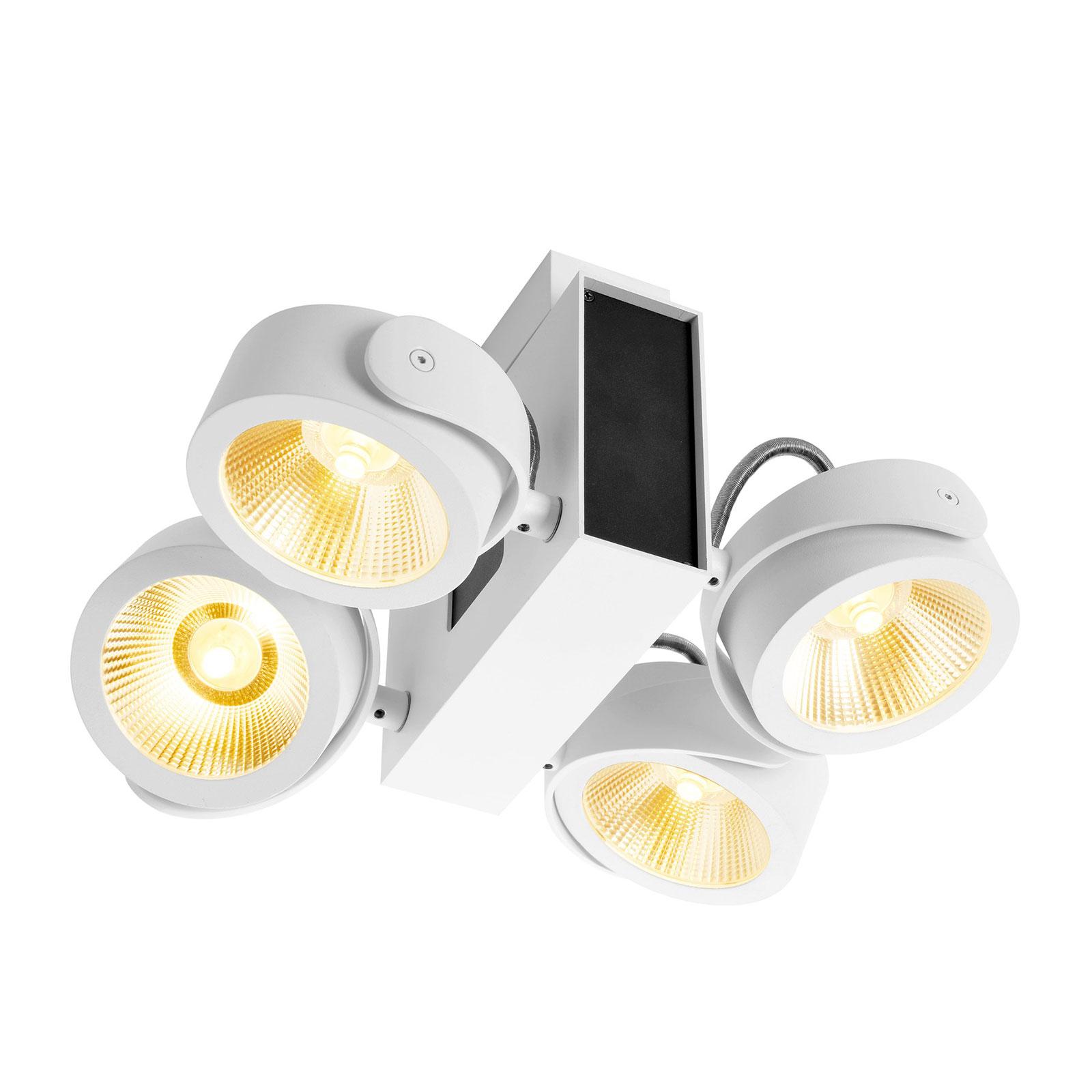 SLV Tec Kalu LED-Deckenstrahler 4-flammig, 24° s/w