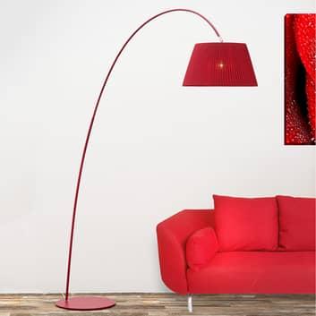Boog-vloerlamp Marion in rood