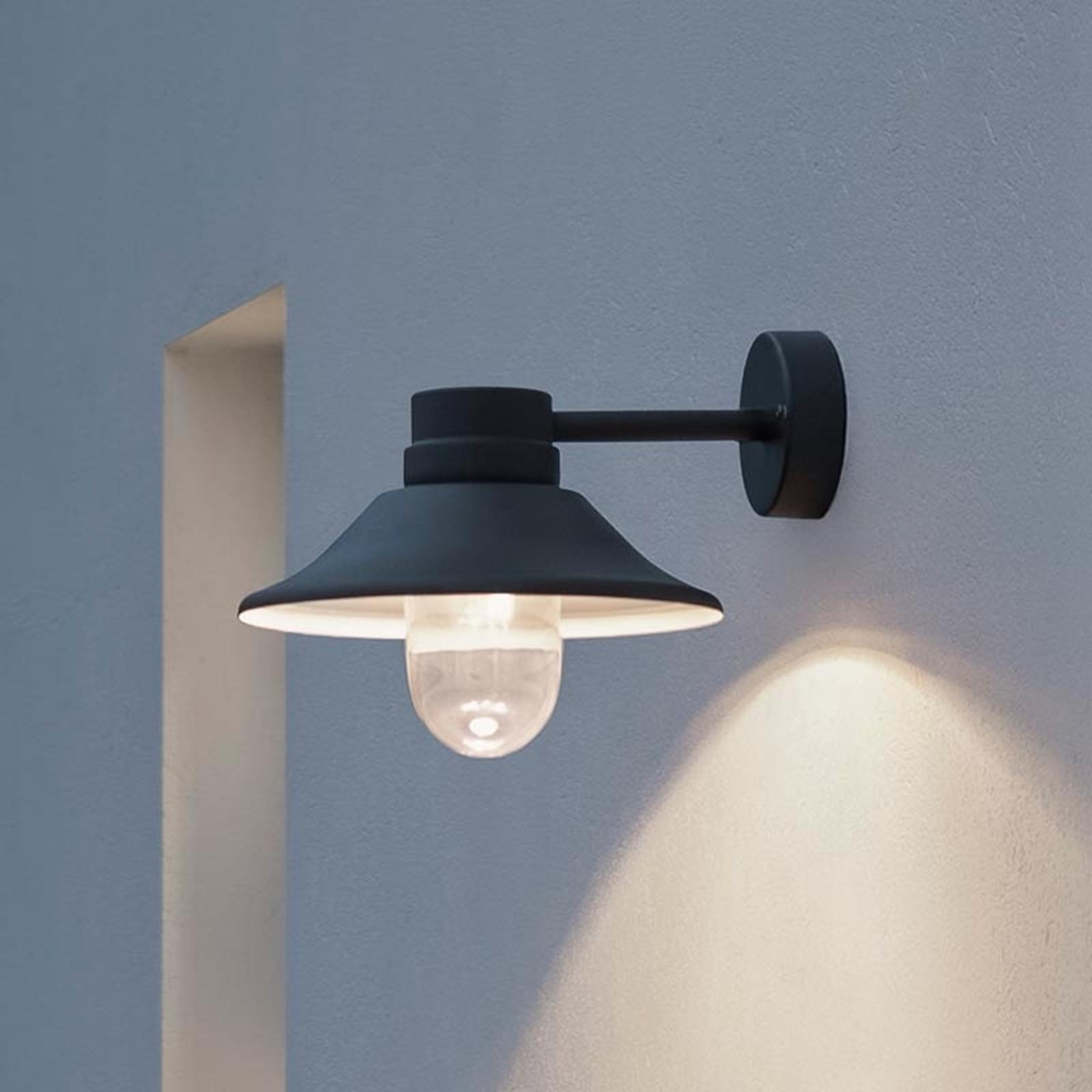 Zewnętrzna lampa ścienna LED VEGA, czarna