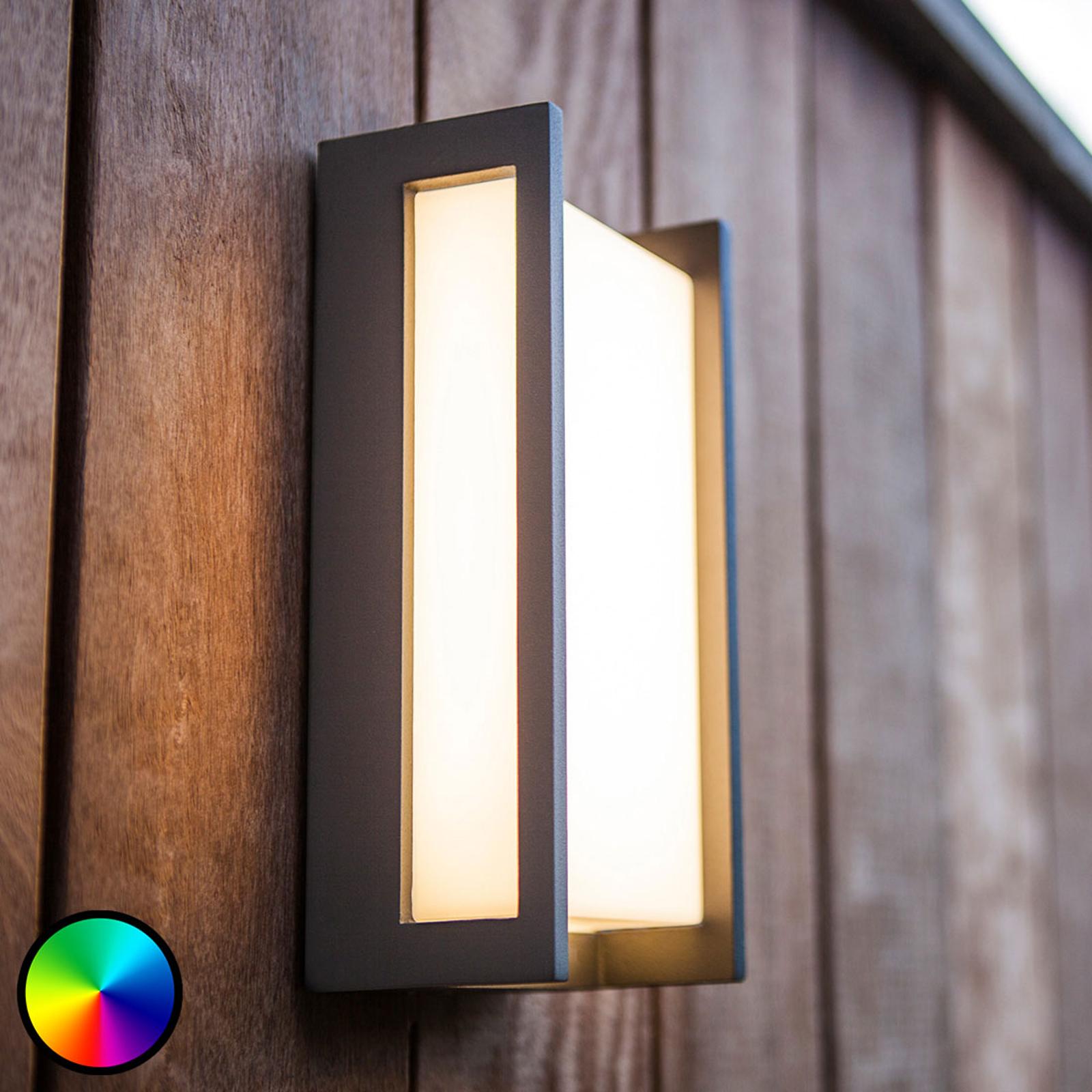 WiZ LED buitenwandlamp Qubo