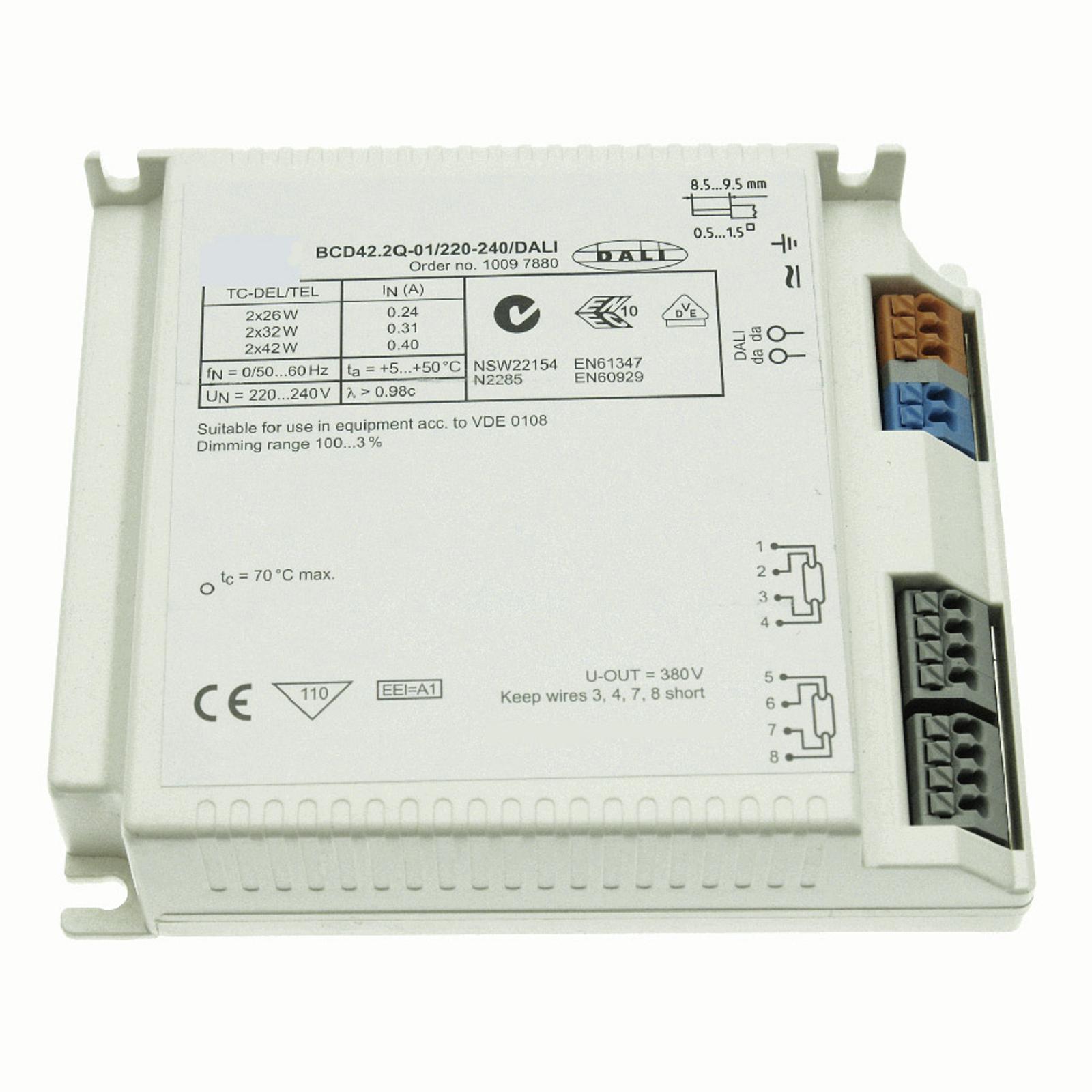 EVG 2 x 26-42 W BCD42.2Q-01/220-240/DALI ściem.