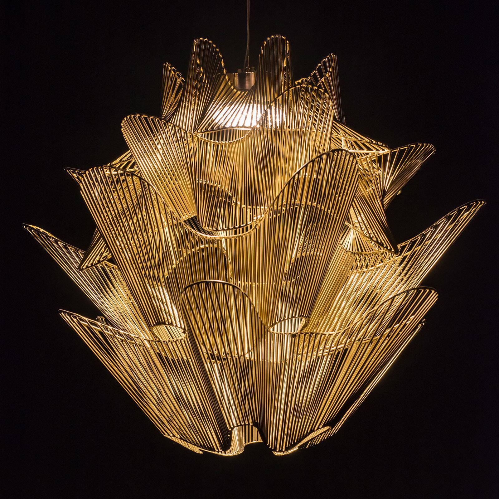 Terzani Moiré LED-hængelampe, guld