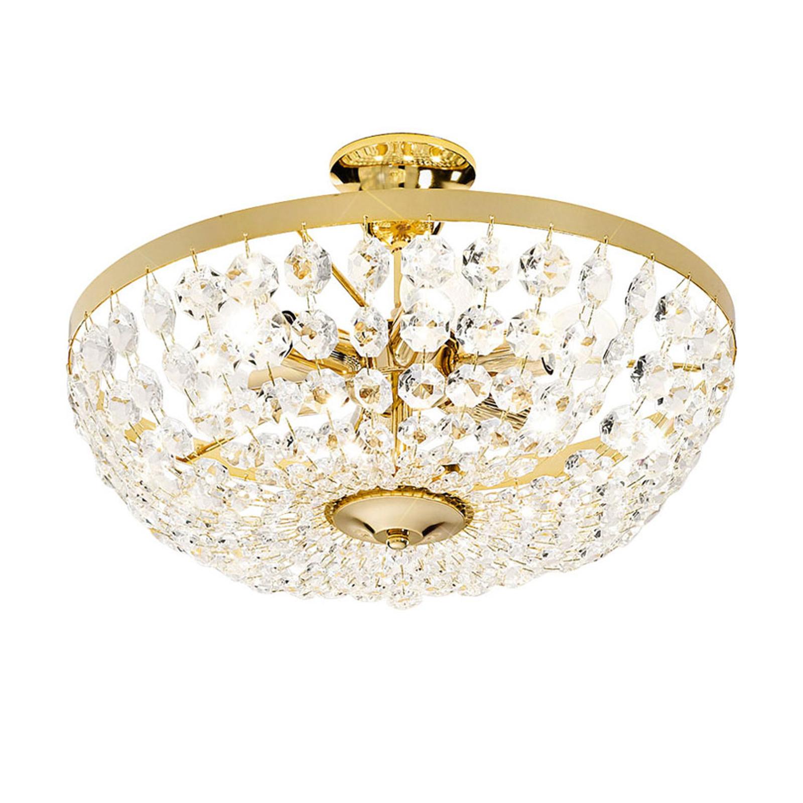 Plafondlamp Valerie met kristallen Ø 40 cm