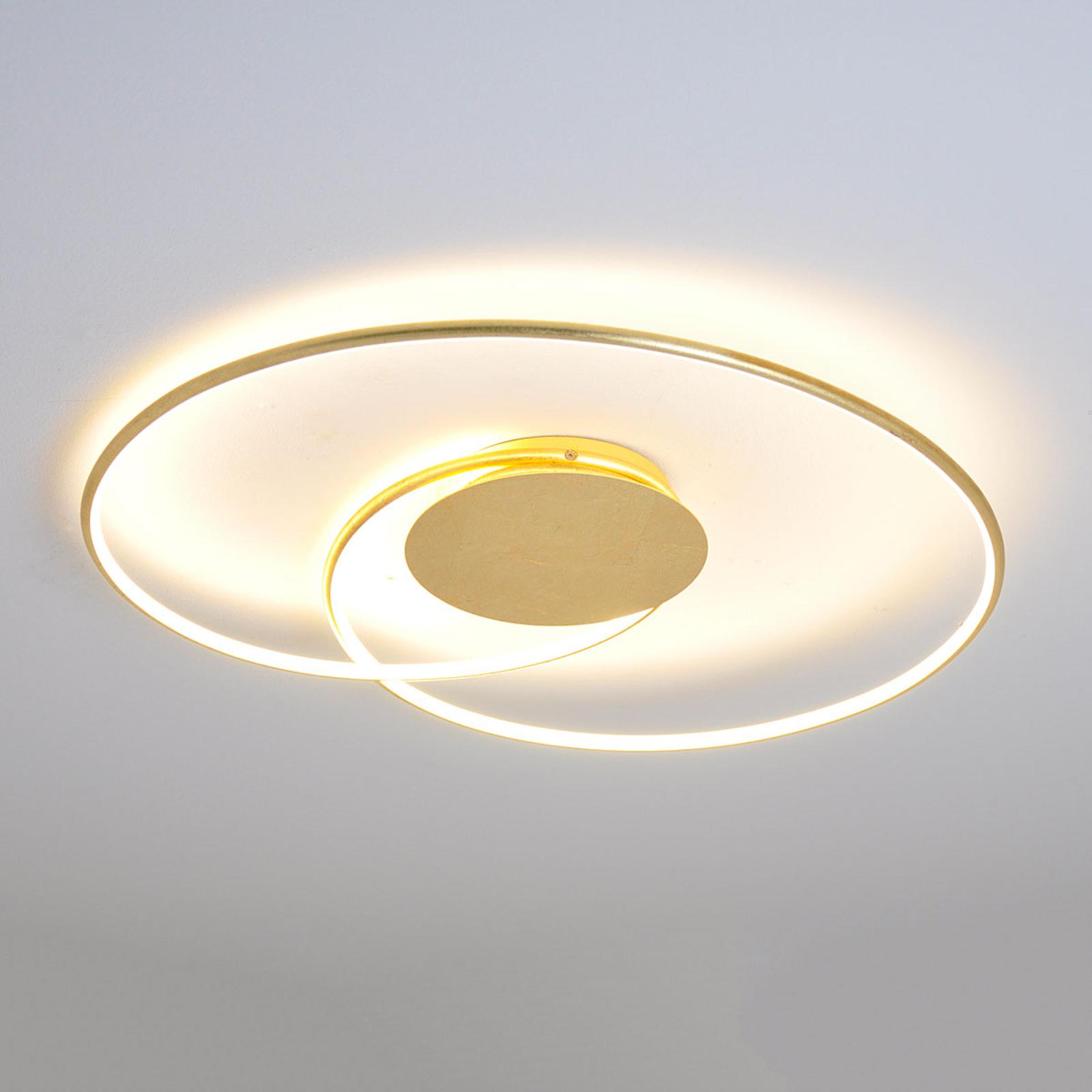 Smukt formet LED-loftslampe Joline, gylden