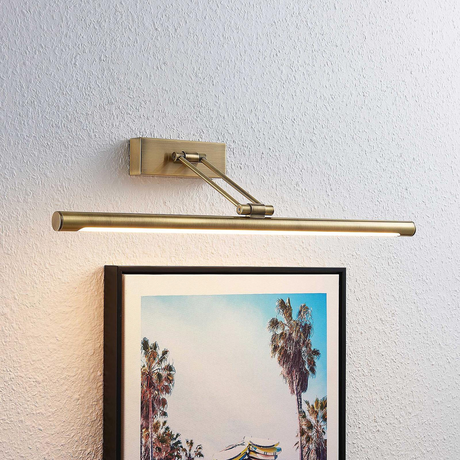 Lucande Dimitrij -LED-tauluvalo, vanha messinki