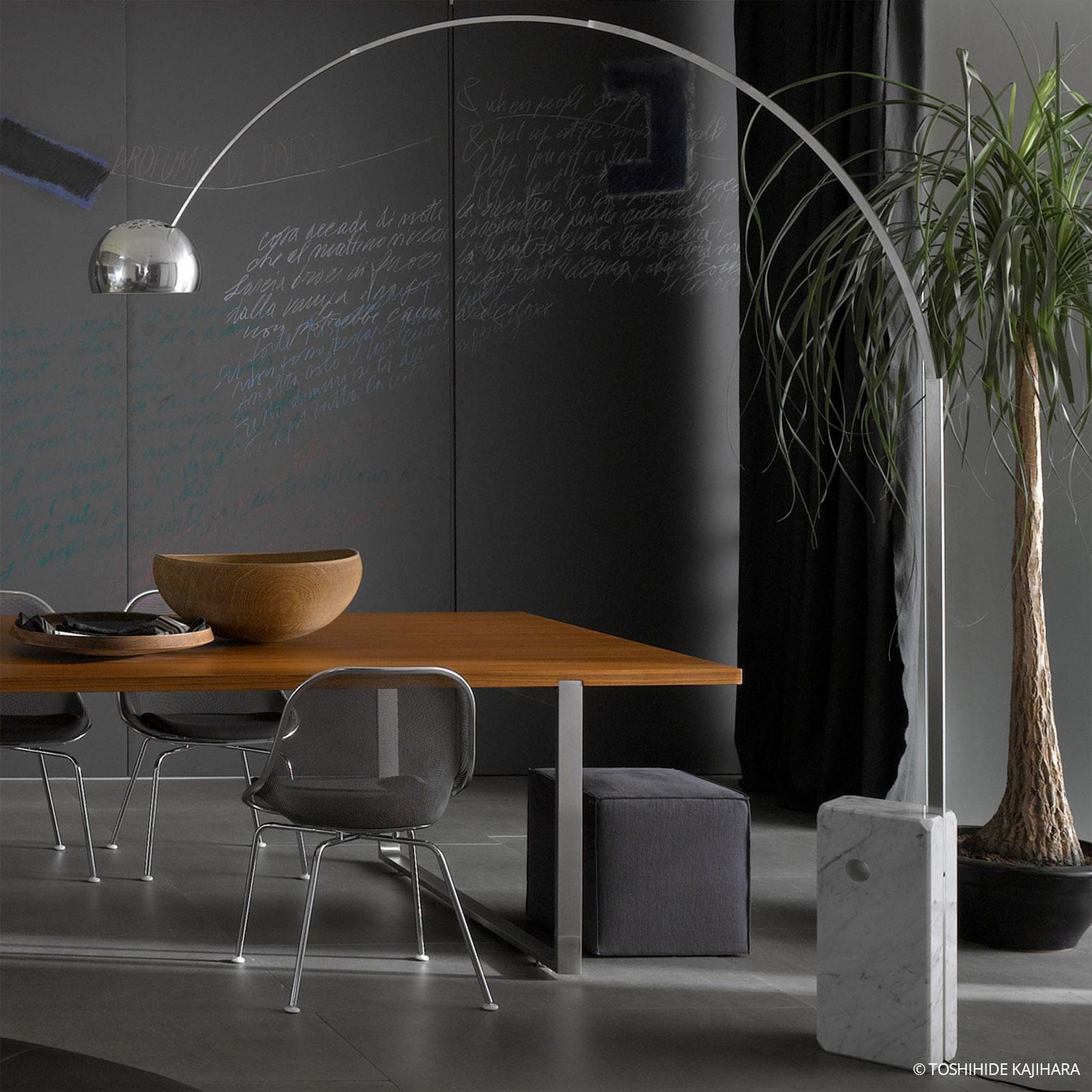 Designerska lampa w kształcie łuku ARCO