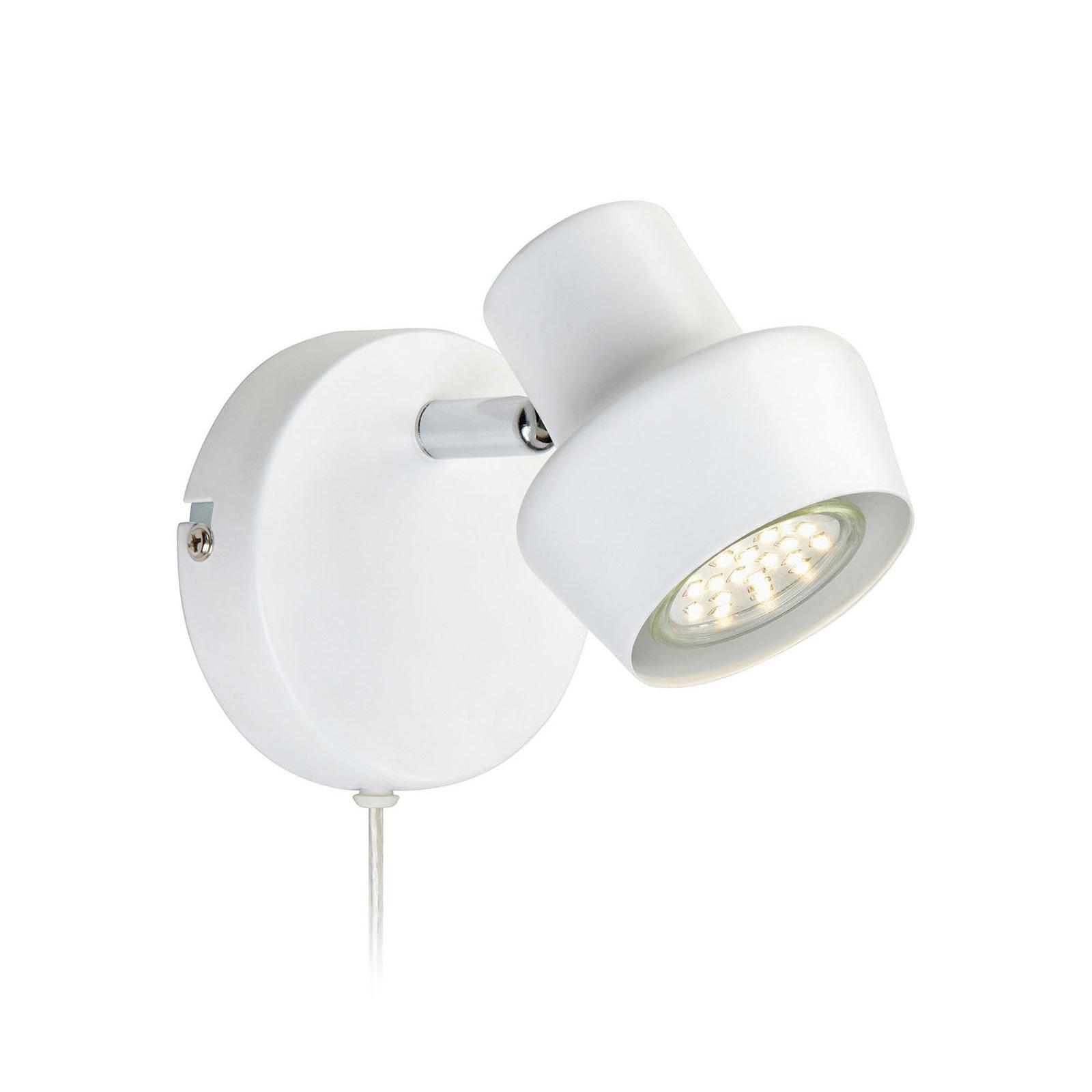 Wandlamp Urn met kabel en stekker, wit