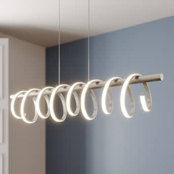 Lucande Milora LED-pendellampa, nickel