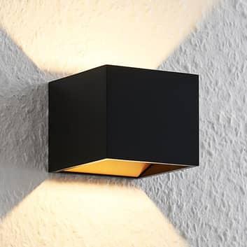 Arcchio Antonin alu-LED wandlamp, zwart-goud