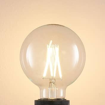 LED žárovka E27 8W 2700K globe, filament, čirá