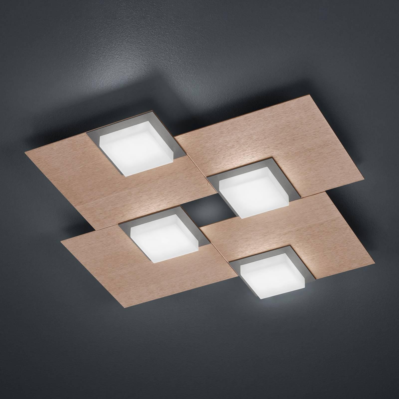 BANKAMP Quadro LED-plafondlamp 32 W rosé goud