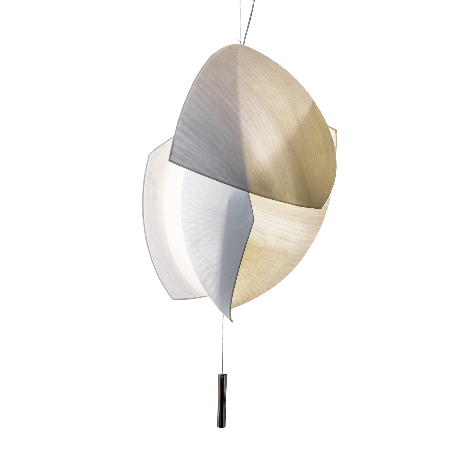 Grok Voiles LED-Hängelampe 95x70 cm, dimmbar 1-10V