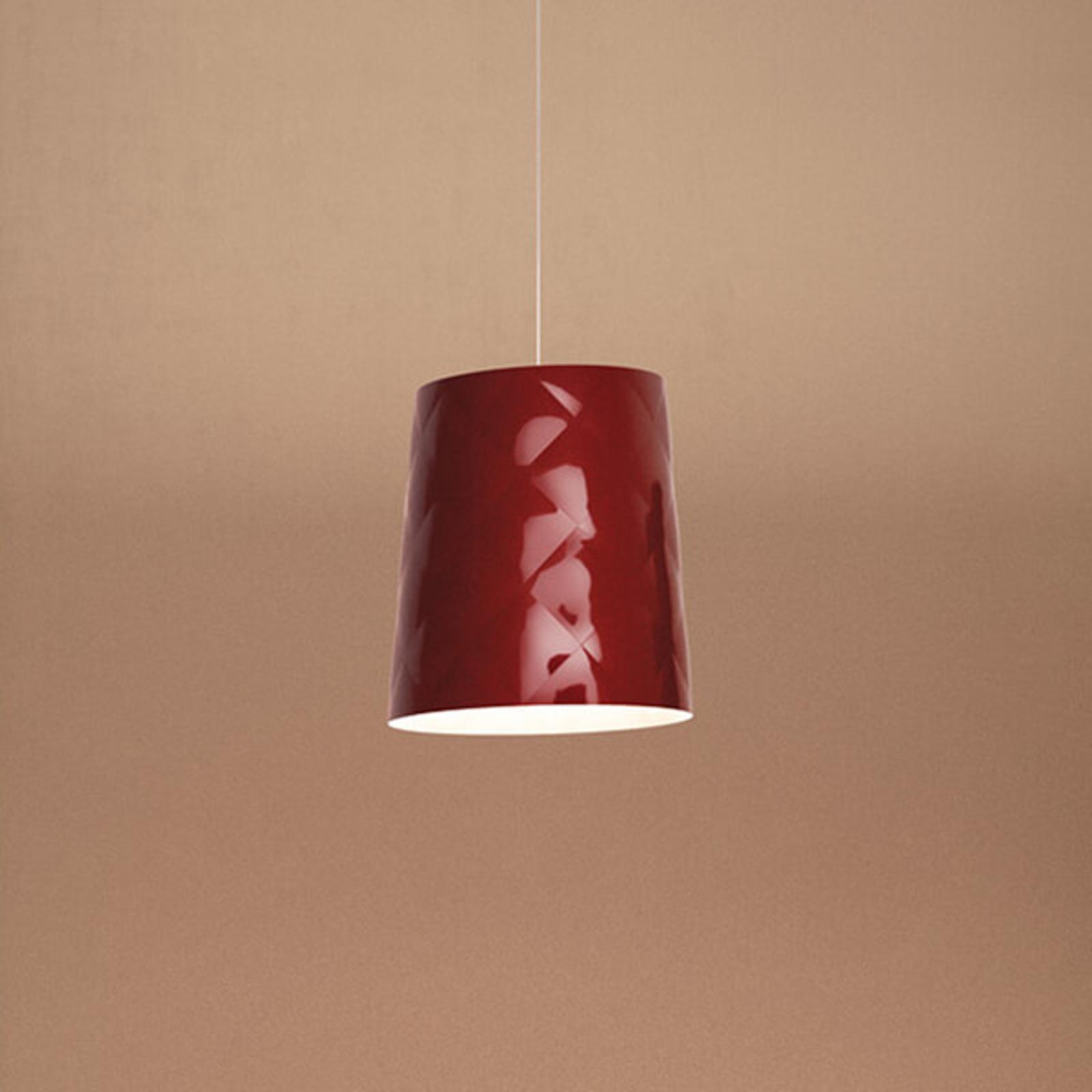 Kundalini New York Hängeleuchte, Ø 33 cm, rot