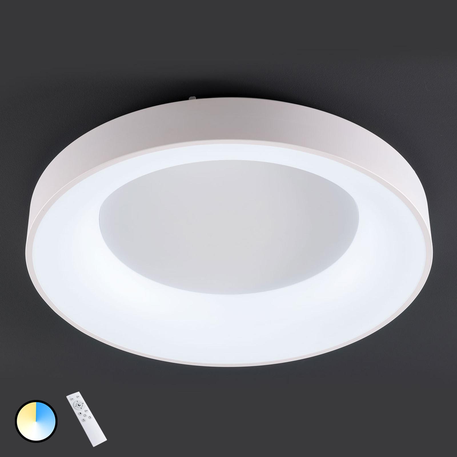 Cameron – LED-taklampe med fjernkontroll, Ø78cm