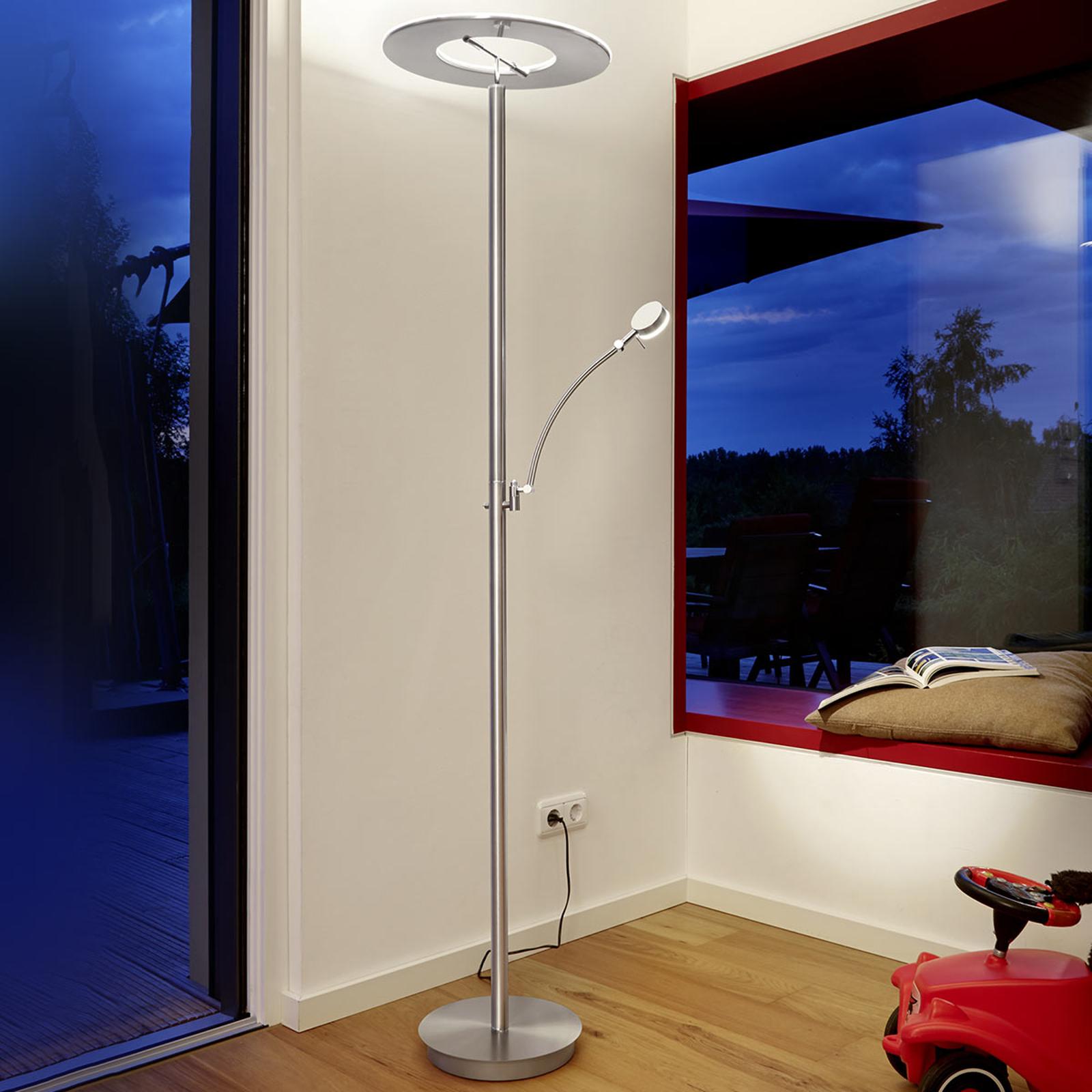 B-Leuchten Monza LED-Deckenfluter, nickel matt