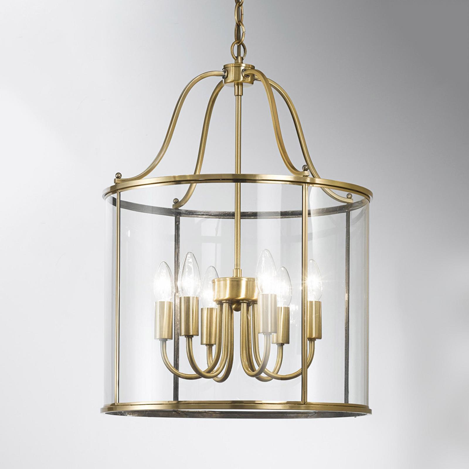 Okrągła lampa wisząca-latarnia RIEKA, 43 cm