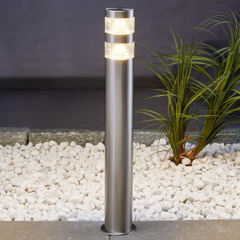 Veilys Lanea i rustfritt stål med LEDs, 60 cm