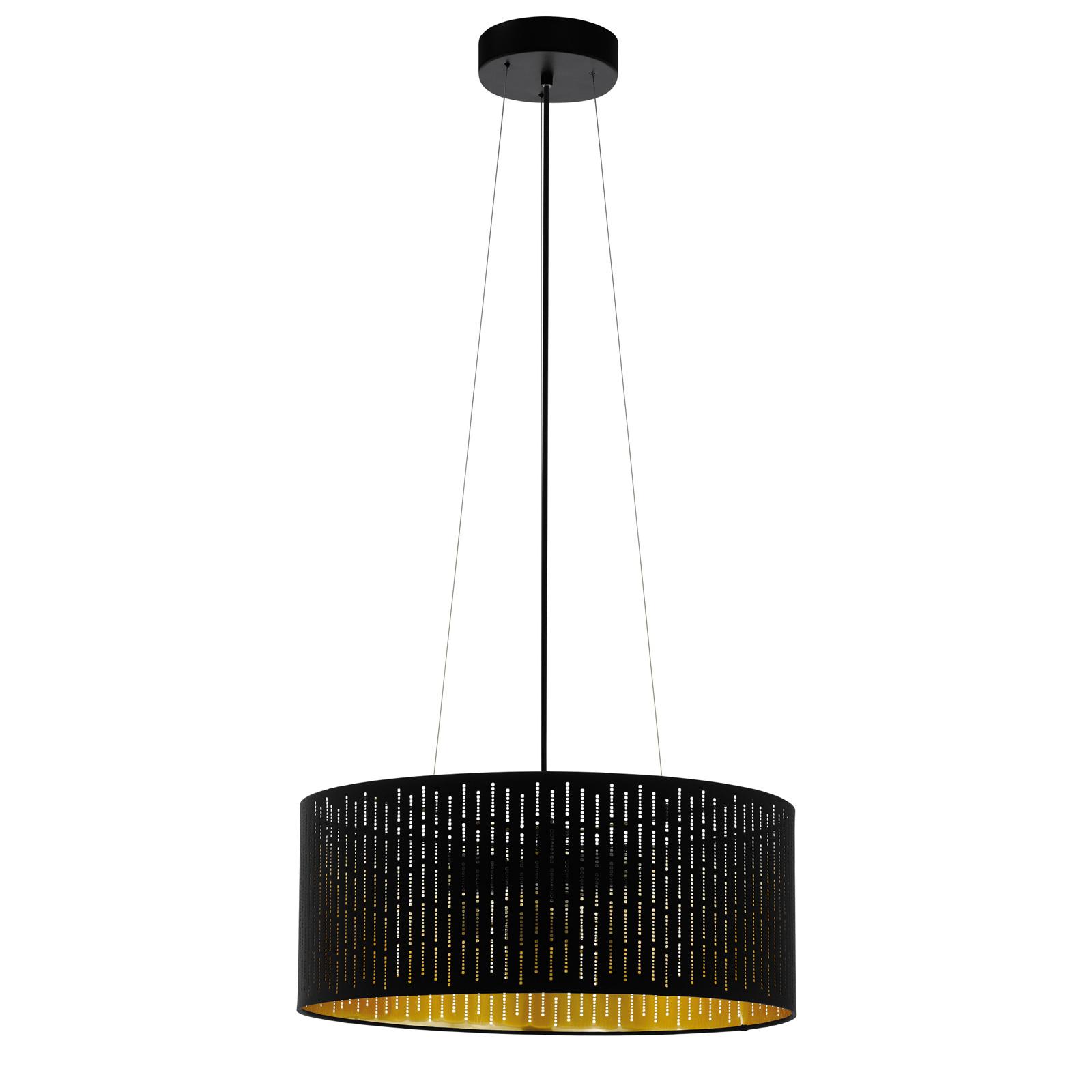 Lampa wisząca Varillas czarna/złota, 53 cm